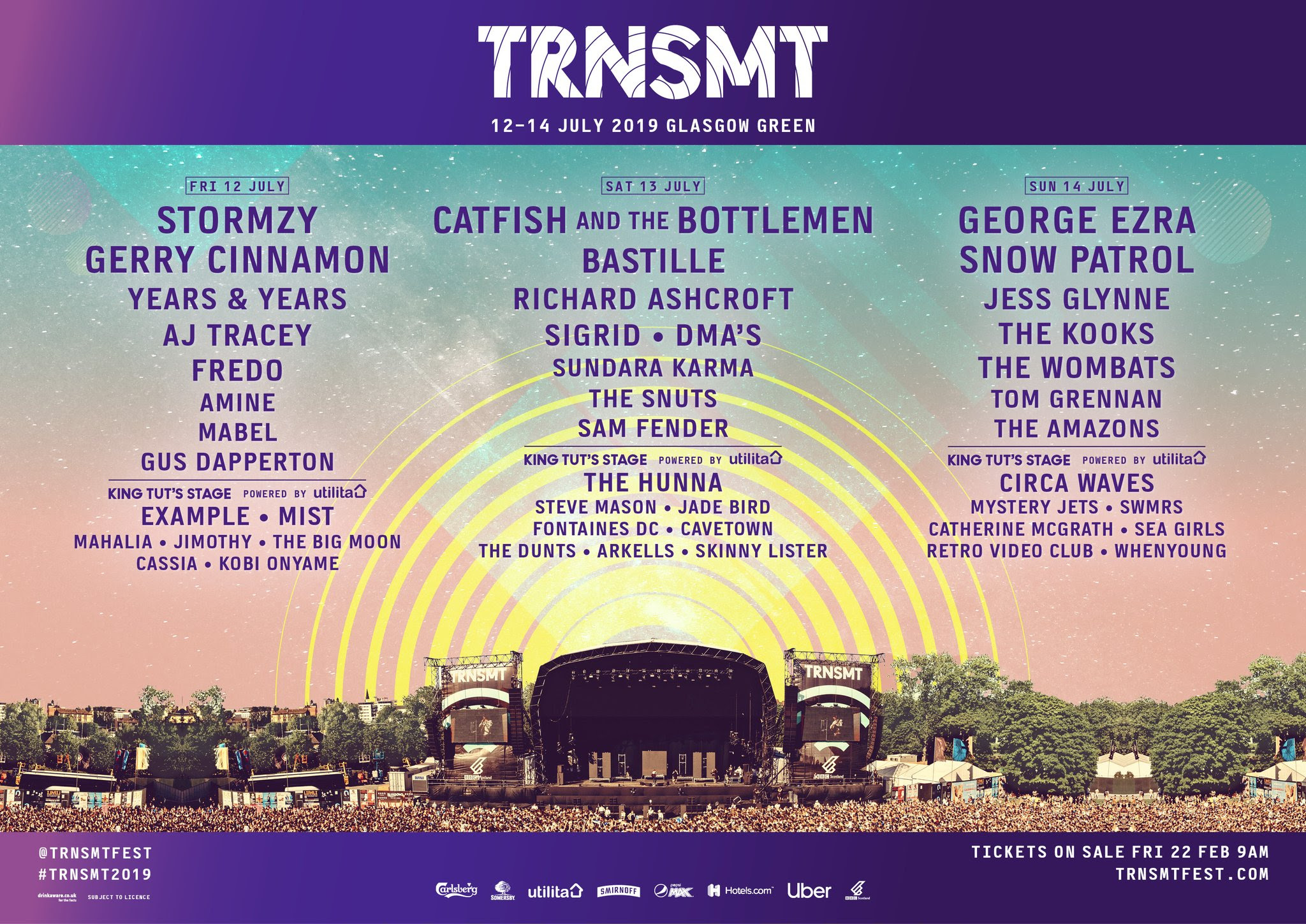 Stormzy, Catfish & The Bottleman, George Ezra, Snow Patrol & Many More To Play TRNSMT in July